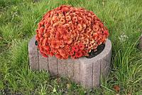 Цветочница круглая (660х450x250) серая