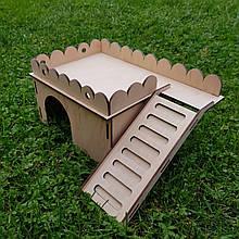 Будиночок для хомяка з сходинками 280х220х140мм tty-fz00011