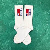Носки Высокие Женские Мужские Pepsi Cola Белые 37-43
