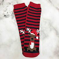 Шкарпетки Високі Новорічні Жіночі Чоловічі Kardesler Новий Рік Олень Червоні Смугасті 36-40