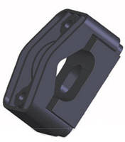 Кабельные зажимы для фиксации трех кабелей KO-3 (32-47) (крепление метизами к металлоконструкциям)