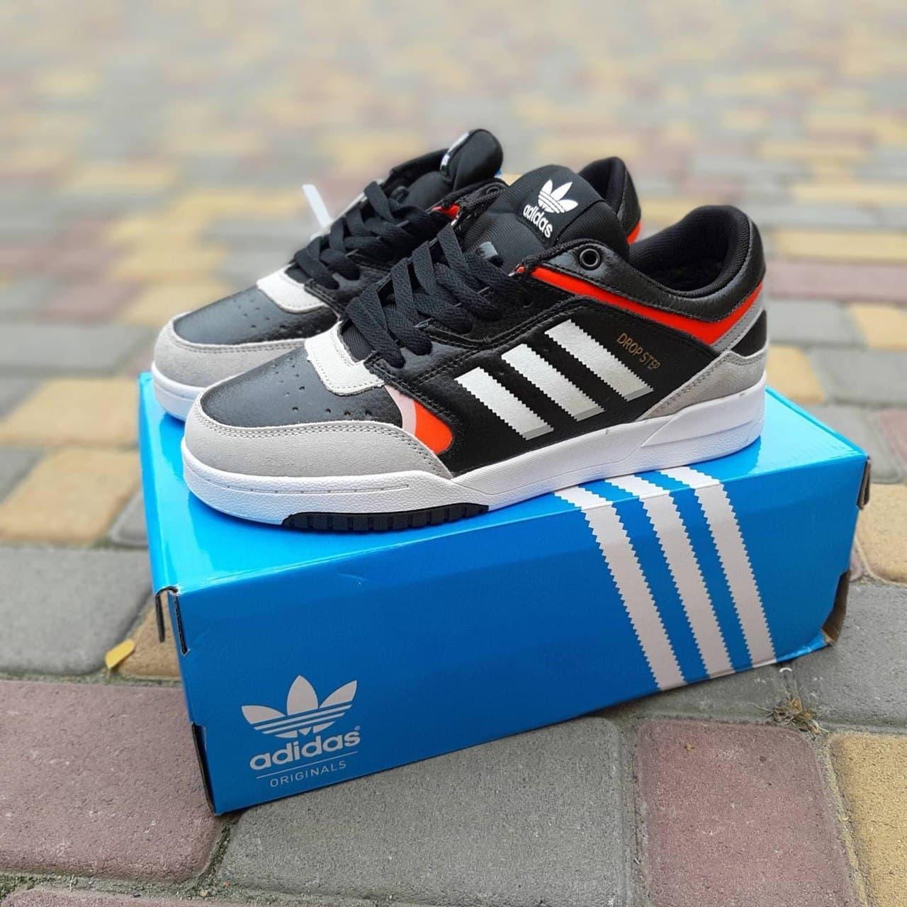 Чоловічі кросівки Adidas Drop Step (чорно-білі) О10337 спортивні демісезонні стильні