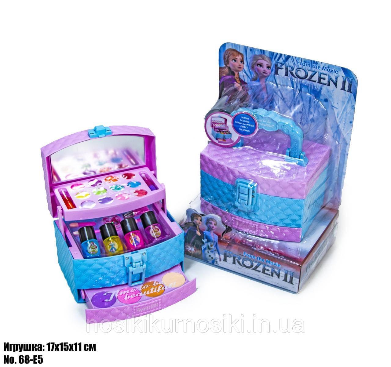 Игровой набор детская косметика - шкатулка косметичка, маникюрный набор, декоративная косметика Frozen