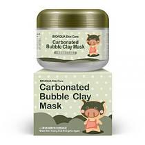 Очищающая пузырьковая маска для кожи лица Bioaqua Skin Care Carbonated Bubble Clay Mask 100 g