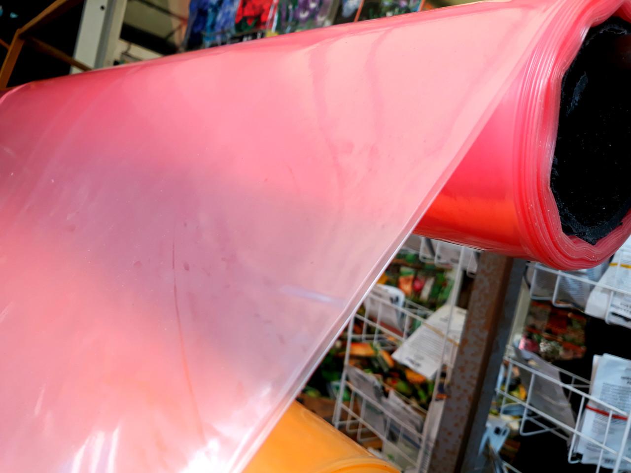 Пленка тепличная на метраж 120мкм, 6м ширина, уф-стабилизация 36 месяцев ,(красная).