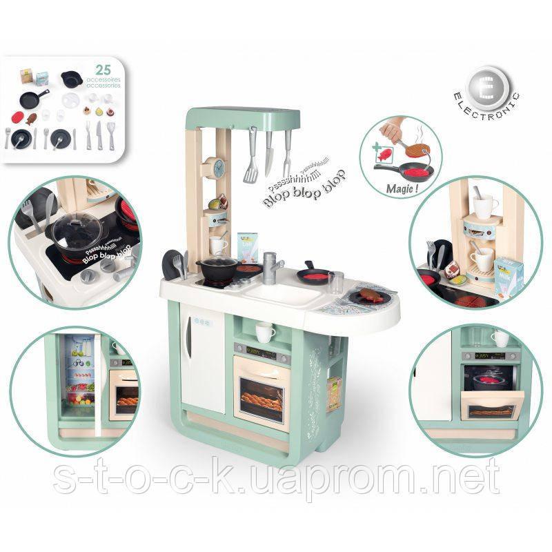 Дитяча інтерактивна кухня Smoby 310911 Cherry Electronic Kitchen для найменших. 25 аксесуарів