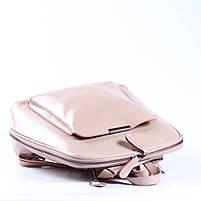 Жіночий шкіряний рюкзак-трансформер в ніжно-рожевому кольорі Tiding Bag - 05905, фото 5