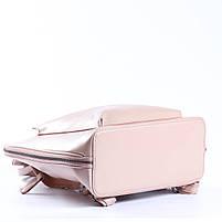 Жіночий шкіряний рюкзак-трансформер в ніжно-рожевому кольорі Tiding Bag - 05905, фото 6