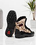 Чоловічі черевики зимові камуфляжні на хутрі берці (Кбл-416з-2), фото 3