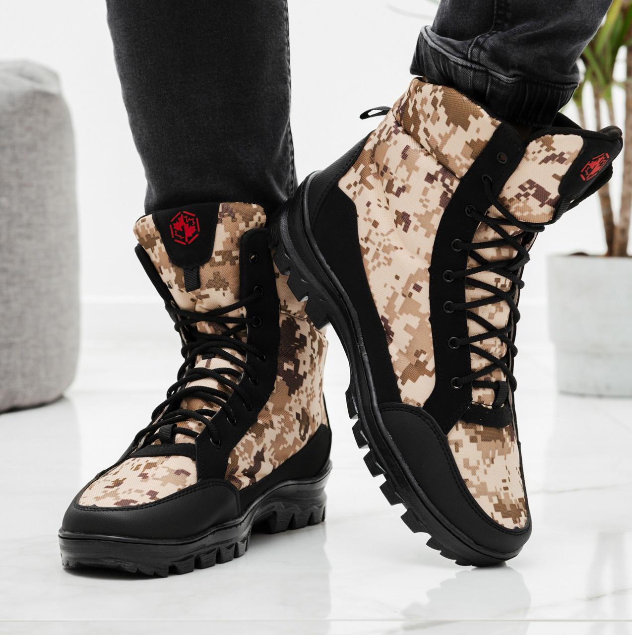 Чоловічі черевики зимові камуфляжні на хутрі берці (Кбл-416з-2)