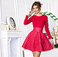 """Стильное молодежное платье мини """" Стёганый синтепон """" Dress Code"""