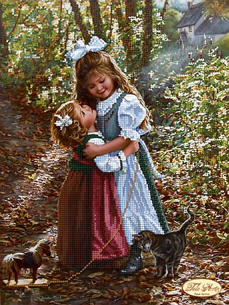 """Рисунок на ткани для вышивания бисером """"Сестрички"""", фото 2"""