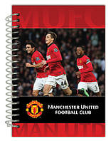 Блокнот карт. обкл., сп., 80арк., А6 Manchester Un