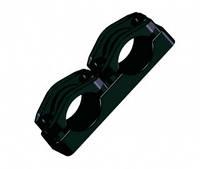 Двойные кабельные зажимы для фиксации кабеля KO-75/2 (крепление метизами к металлоконструкциям)