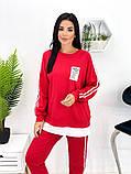 Спортивний костюм жіночий трикотаж двухнить батник штани розмір: 42-44, 46-48,50-52, фото 3