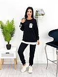 Спортивний костюм жіночий трикотаж двухнить батник штани розмір: 42-44, 46-48,50-52, фото 4