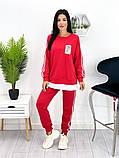 Спортивний костюм жіночий трикотаж двухнить батник штани розмір: 42-44, 46-48,50-52, фото 8