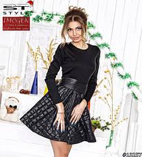 Платье в сочетаний трикотаж и стёганный синтепон , фото 2