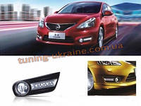 Дневные ходовые огни (LED ДХО) для Nissan Tiida 2011+