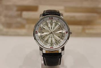 Люксові чоловічий годинник з чорним ремінцем код 14