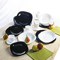 Сервіз столовий 30 предметний Carine Black/White Luminarc., фото 1