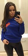 Стильный женский свитшот с сердечком, фото 1
