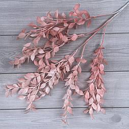 Искусственная декоративная ветка рускуса розового 80 см