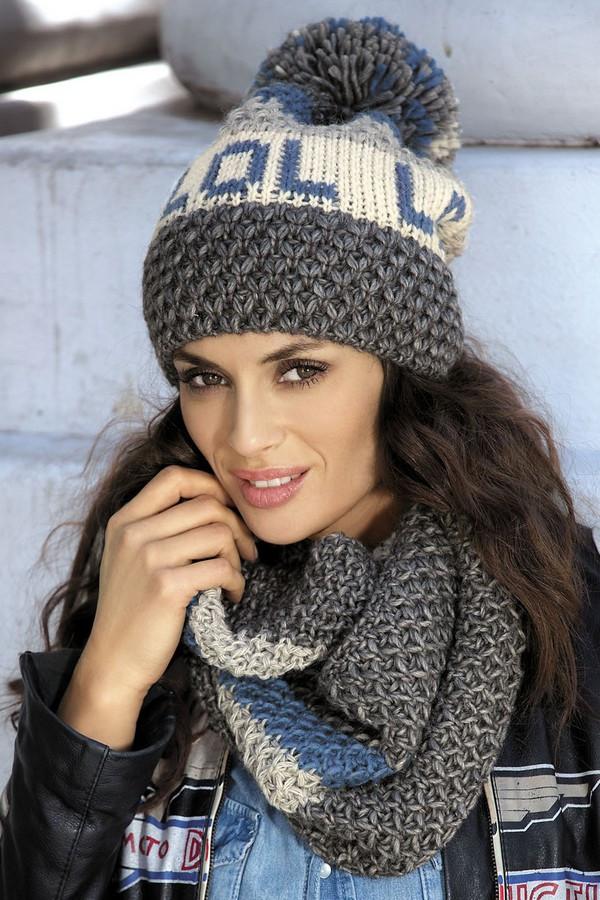 Красивая вязанная шапка с помпоном от Kamea - Frederica.