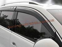 Ветровики с хром кантиком на Nissan Tiida 2011+