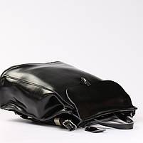 Женский черный городской рюкзак из натуральной кожи Tiding Bag - 23228, фото 5