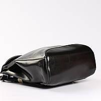 Женский черный городской рюкзак из натуральной кожи Tiding Bag - 23228, фото 6