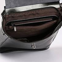 Женский черный городской рюкзак из натуральной кожи Tiding Bag - 23228, фото 7