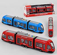 Музичний Трамвай, інерція, світло, звук, в коробці 48 х 11 х 17 см