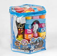 Конструктор для малышей Транспорт, 30 элемента, 3 фигурки машинки, в пвх сумке 21 х 23 х 26 см