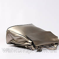 Женский серебристый городской рюкзак из натуральной кожи Tiding Bag - 24994, фото 5