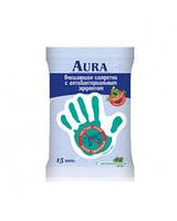 Влажные салфетки AURA 15шт. для детей  Антибактериальные Ментол
