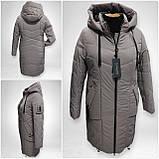 """Зимова Подовжена куртка """"Дельта"""", пляшковий колір, фото 10"""