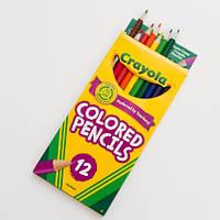 Цветные карандаши 12 цветов Крайола Америка. Colored pencils 12 Crayola