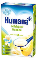 Каша HUMANA молочная кукурузно-рисовая с бананом сухая для детей от 6-ти месяцев 250 г