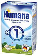 Детская молочная смесь HUMANA 1 с пребиотиками галактоолигосахаридами LC PUFA и нуклеотидами 600 г