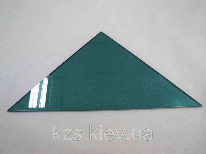 Полка треугольная из крашеного стекла толщиной 4мм 250х250мм