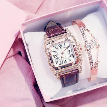Комплект женский часы и браслет код 516