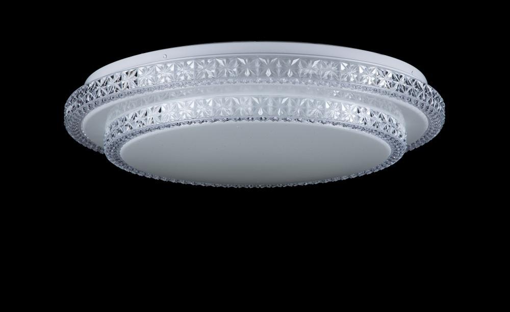 Світлодіодна смарт люстра L8207B/36W*2 LED (WT)