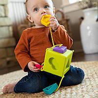 Сортер-прорезыватель тактильный Fat Brain Toys OombeeCube  (F120ML), фото 1