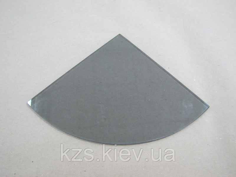 Полка радиусная из стекла графит толщиной 4 мм. 200х200мм