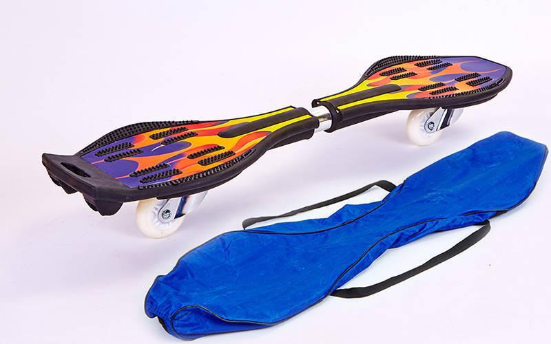 Скейтборд двухколесный RipStik роллерсерф SP-Sport SK-004S синий-оранжевый