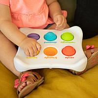 Игрушка сенсорная Цвет Форма Название Fat Brain Toys Dimpl Duo Брайль  (F208EN), фото 1