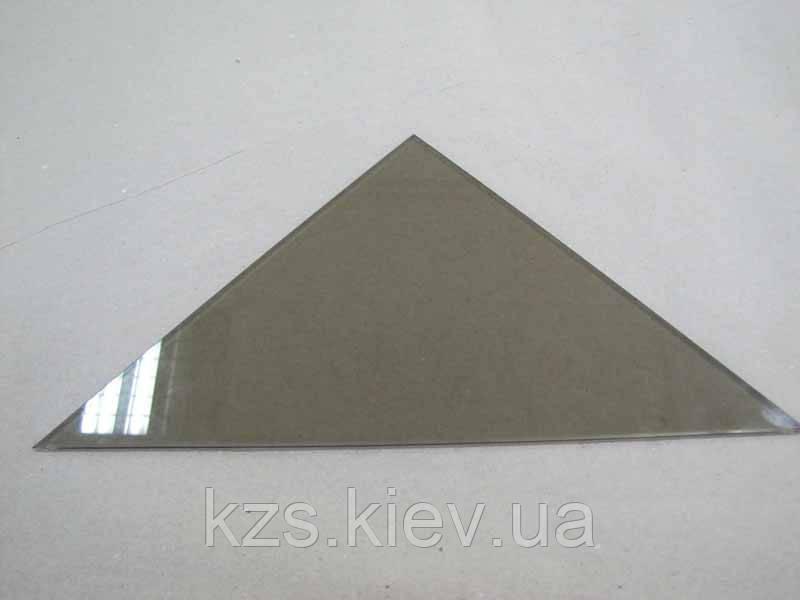 Полка треугольная из стекла бронза толщиной 6мм. 300х300мм