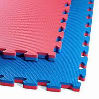 Мат-пазл (ластівчин хвіст) 4FIZJO Mat Puzzle EVA 100 x 100 x 2 см 4FJ0167 Blue/Red