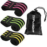 Гумка для фітнесу та спорту тканинна SportVida Hip Band 3 штуки SV-HK0365, фото 1
